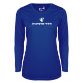 Ladies Syntrel Performance Royal Longsleeve Shirt-EH Stacked