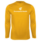 Performance Gold Longsleeve Shirt-EH Stacked