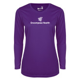 Ladies Syntrel Performance Purple Longsleeve Shirt-EH Stacked