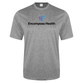 Performance Grey Heather Contender Tee-EH Stacked