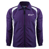 Colorblock Purple/White Wind Jacket-EH Vertical