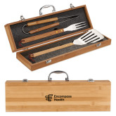 Grill Master 3pc Bamboo BBQ Set-EH Vertical  Engraved