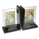Glass Frame Bookends-EH Vertical  Engraved