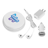 3 in 1 White Audio Travel Kit-EH Symbol
