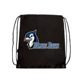 Black Drawstring Backpack-Blue Jays