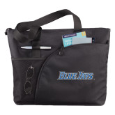 Excel Black Sport Utility Tote-Blue Jays Wordmark