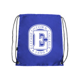 Nylon Royal Drawstring Backpack-Official Logo