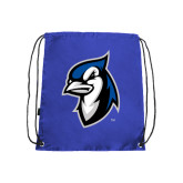 Royal Drawstring Backpack-Blue Jays Mascot