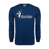 Navy Long Sleeve T Shirt-Blue Jays