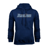 Navy Fleece Hoodie-Blue Jays Wordmark