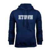 Navy Fleece Hood-Etown