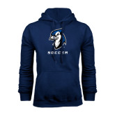 Navy Fleece Hoodie-Soccer