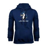 Navy Fleece Hoodie-Lacrosse