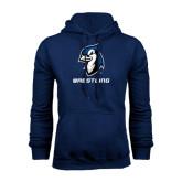 Navy Fleece Hood-Wrestling