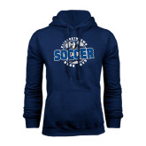 Navy Fleece Hoodie-Soccer Circle