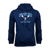 Navy Fleece Hoodie-Crossed Sticks Lacrosse