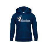 Youth Navy Fleece Hood-Blue Jays