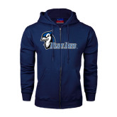 Navy Fleece Full Zip Hoodie-Blue Jays