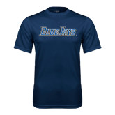Performance Navy Tee-Blue Jays Wordmark