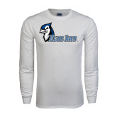 White Long Sleeve T Shirt-Blue Jays