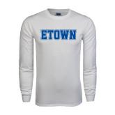White Long Sleeve T Shirt-Etown