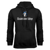 Black Fleece Hoodie-Elizabethtown College with Blue Jays Mascot