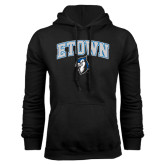 Black Fleece Hoodie-ETOWN with Mascot