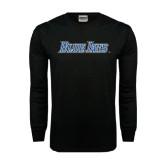 Black Long Sleeve TShirt-Blue Jays Wordmark