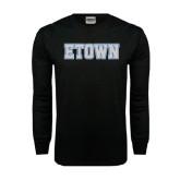 Black Long Sleeve TShirt-Etown