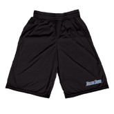 Performance Black 9 Inch Short w/Pockets-Blue Jays Wordmark