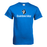 Royal T Shirt-Elizabethtown College with Blue Jays Mascot
