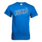 Royal T Shirt-Slanted Basketball