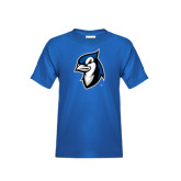 Youth Royal T Shirt-Blue Jays Mascot