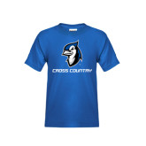 Youth Royal T Shirt-Cross Country