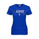 Ladies Royal T Shirt-Belt and Shoes Wrestling