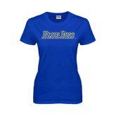 Ladies Royal T Shirt-Blue Jays Wordmark