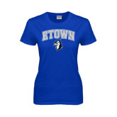 Ladies Royal T Shirt-ETOWN with Mascot