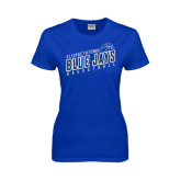 Ladies Royal T Shirt-Slanted Basketball