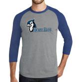 Grey/Royal Heather Tri Blend Baseball Raglan-Blue Jays