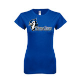 Next Level Ladies SoftStyle Junior Fitted Royal Tee-Blue Jays