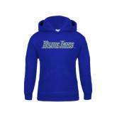 Youth Royal Fleece Hoodie-Blue Jays Wordmark