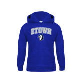 Youth Royal Fleece Hoodie-ETOWN with Mascot
