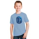 Youth Light Blue T Shirt-Official Logo Foil