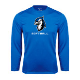 Syntrel Performance Royal Longsleeve Shirt-Softball