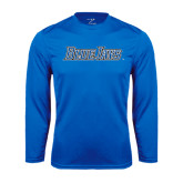 Syntrel Performance Royal Longsleeve Shirt-Blue Jays Wordmark