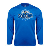 Performance Royal Longsleeve Shirt-Soccer Circle