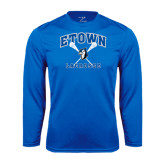 Syntrel Performance Royal Longsleeve Shirt-Crossed Sticks Lacrosse
