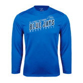 Performance Royal Longsleeve Shirt-Slanted Basketball