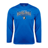Syntrel Performance Royal Longsleeve Shirt-Crossed Bats Baseball
