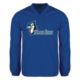 V Neck Royal Raglan Windshirt-Blue Jays